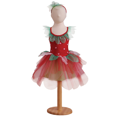 Fancy Dress Party on Girls Strawberry Pink Tutu Fairy Fancy Dress Up Costume Party
